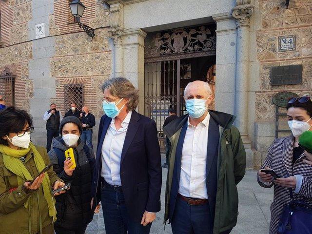 Archivo - Los ediles de Recupera Madrid Marta Higueras y Luis Cueto