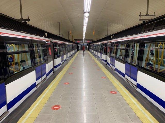 Imagen de recurso de una estación de Metro de Madrid.