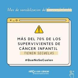 Campaña #QueNoSeCuelen, para reclamar el seguimiento a largo plazo de supervivientes de cáncer infantil.
