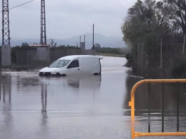 Archivo - Imagen de archivo de lluvias en Vinaròs