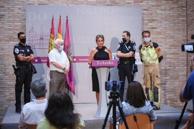 La alcaldesa de Toledo, Milagros Tolón, en rueda de prensa