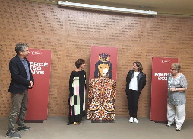 Presentació de les festes de la Mercè 2021 amb l'alcaldessa de Barcelona, Ada Colau