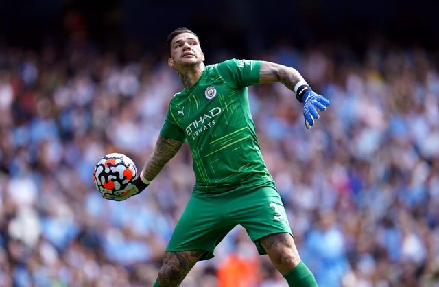 28 August 2021, United Kingdom, Manchester: Manchester City goalkeeper Ederson in action during the English Premier League soccer match between Manchester City and Arsenal at the Etihad Stadium. Photo: Nick Potts/PA Wire/dpa
