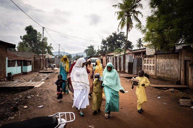 Archivo - Celebraciones por el Eid al Fitr en Bangui