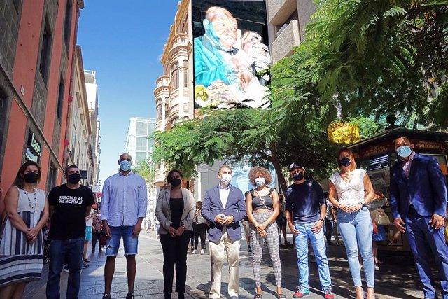 Presentación del mural homenaje al trompetista Nilo Caparrosa