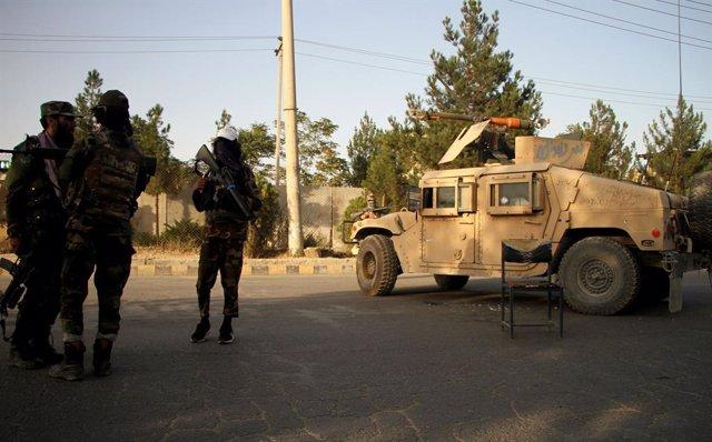 Milicianos talibán en Kabul