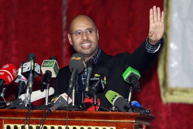 Archivo - Saif al Islam, hijo del exlíder de Libia Muamar Gadafi