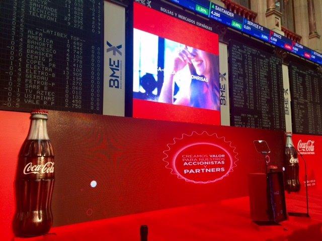 Archivo - Interior de la Bolsa Coca-Cola European Partners