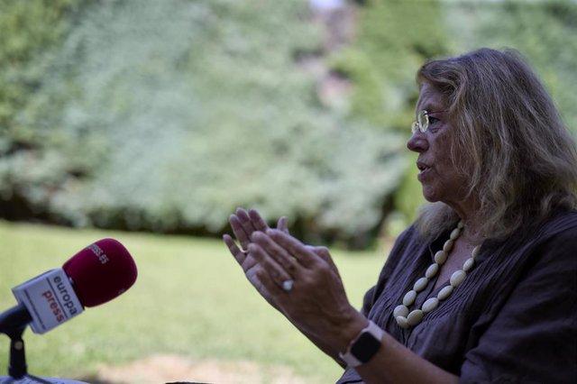 La vicesecretaria de Sectorial del PP, Elvira Rodríguez, durante una entrevista para Europa Press