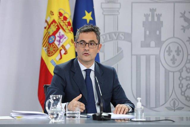 Arxiu - El ministre de Presidència, Relacions amb les Corts i Memòria Democràtica, Félix Bolaños