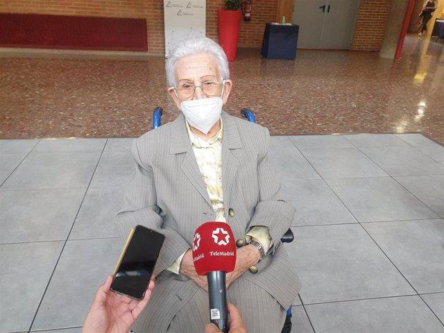 La primera vacunada contra el COVID-19 en España, Araceli Hidalgo