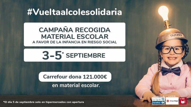 Cruz Roja y Fundación Solidaridad Carrefour han presentado la XIII edición de la 'Vuelta al Cole Solidaria'