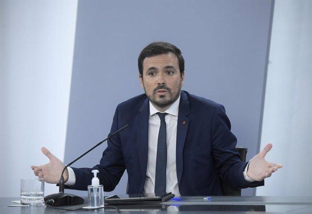 Archivo - Arxiu - El ministre de Consum, Alberto Garzón