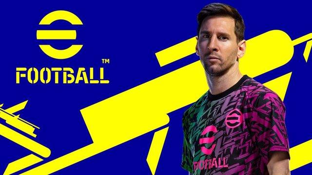 El futbolista Leo Messi, en la portada del videojuego eFootball de Konami.