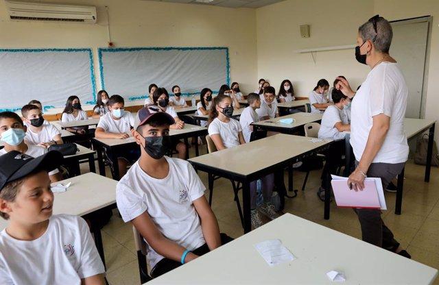 Inicio del curso escolar en Modiin, Israel