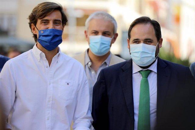 El presidente del PP de C-LM, Paco Núñez, y el vicesecretario general de Comunicación del PP, Pablo Montesinos