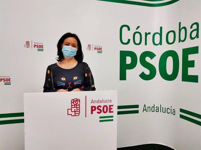 Archivo - La diputada nacional del PSOE por Córdoba, Rafi Crespín, en la sede de su partido.