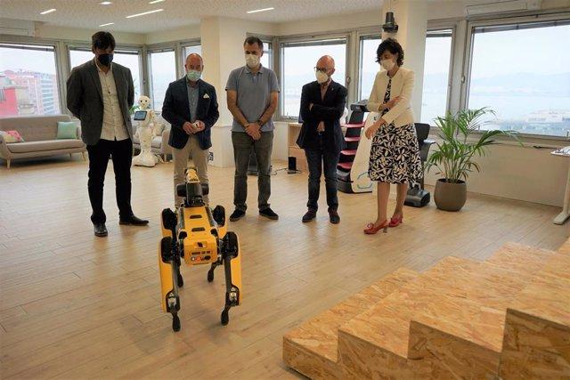 Visita a la empresa Alisys, especialista en robótica e inteligencia artificial, del consejero de Ciencia, Innovación y Universidad del Principado, Borja Sánchez, en Gijón
