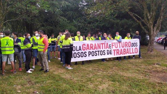 Protesta de personal de ENCE