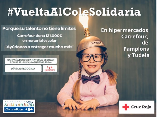 Cartel de la campaña 'Vuelta al cole solidaria'