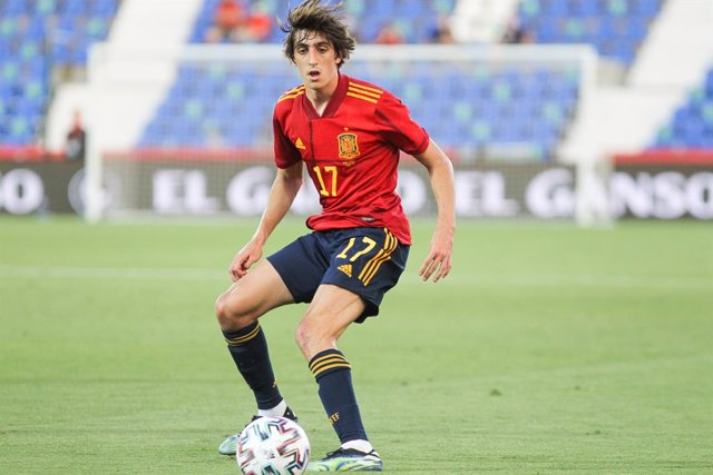 Archivo - Bryan Gil of Spain U21 in action during the international friendly match played between Spain U21 and Lithuania at Municipal de Butarque stadium on Jun 07, 2021 in Leganes, Madrid, Spain.