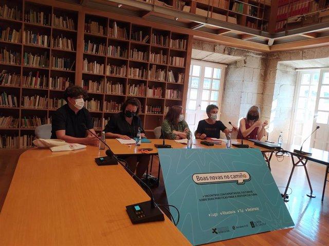 Presentación del programa de 'Boas novas no camiño' en Santiago de Compostela