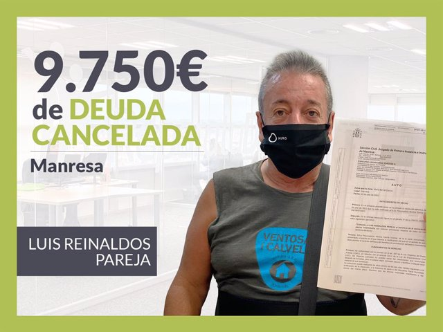 Luis Reinaldos Pareja, exonerado con Repara Tu Deuda.