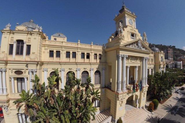 Archivo - Ayuntamiento de Málaga en una imagen de archivo