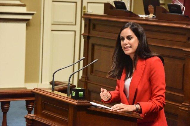 Archivo - La diputada no adscrita del Parlamento de Canarias, Vidina Espino