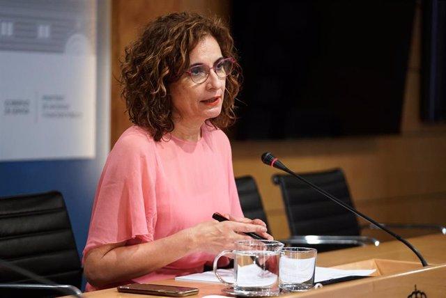 Archivo - La ministra de Hacienda y Función Pública, María Jesús Montero.