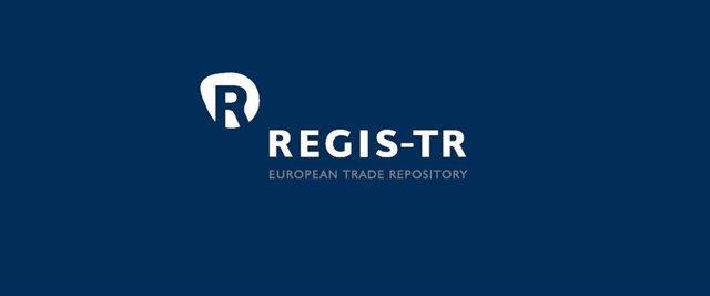 Archivo - Logo de REGIS-TR, compañía del grupo SIX.