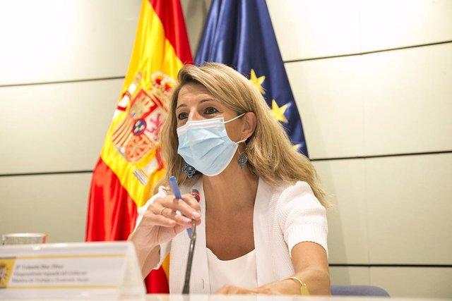 Archivo - Arxiu - La vicepresidenta segona i ministra de Treball i Economia Social, Yolanda Díaz