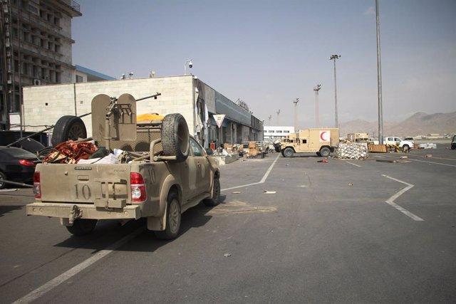 Vista del aeropuerto de Kabul tras la retirada de EstadosUnidos