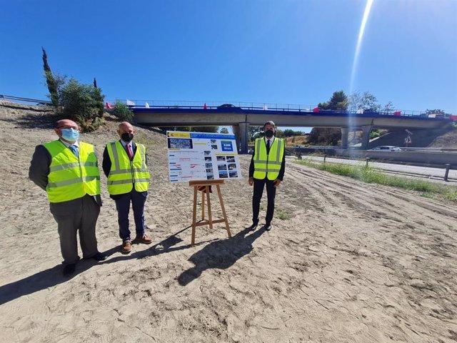 Inauguración de la apertura del tráfico del enlace bajo el puente de Cancelada