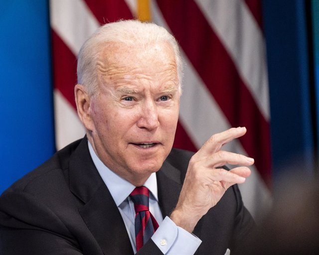 30 August 2021, US, Washington: US President Joe Biden attends a virtual meeting with Governors and Mayors from states and cities impacted by Hurricane Ida. Photo: Michael Brochstein/ZUMA Press Wire/dpa