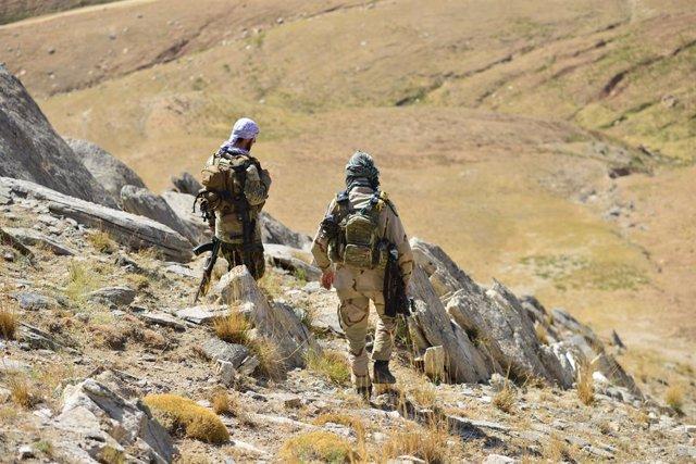 Milicianos antitalibán en Panjshir