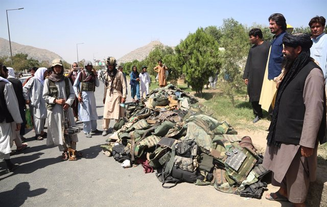 Milicianos talibán en Kabul, Afganistán