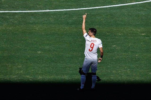 Archivo - Gerard Moreno con la selección española de fútbol