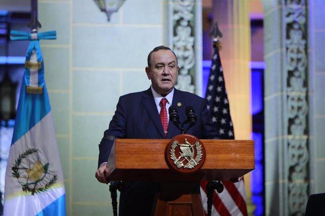 Archivo - Alejandro Giammattei, presidente de Guatemala.