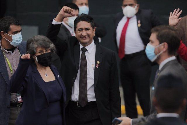 Ceremonia de asuncion de mando del presidente electo, Pedro Castillo, en el marco del Bicentenario del Perú en el Congreso de la República.