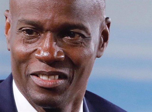 Archivo - Imagen de archivo del presidente haitiano Jovenel Moise, asesinado en julio