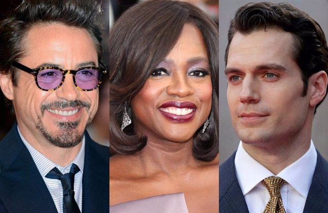 Robert Downey Jr., Viola Davis y Henry Cavill