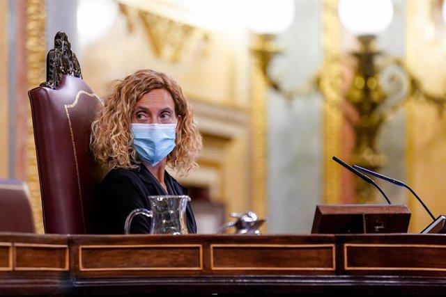 Archivo - La presidenta del Congreso, Meritxell Batet en una sesión plenaria