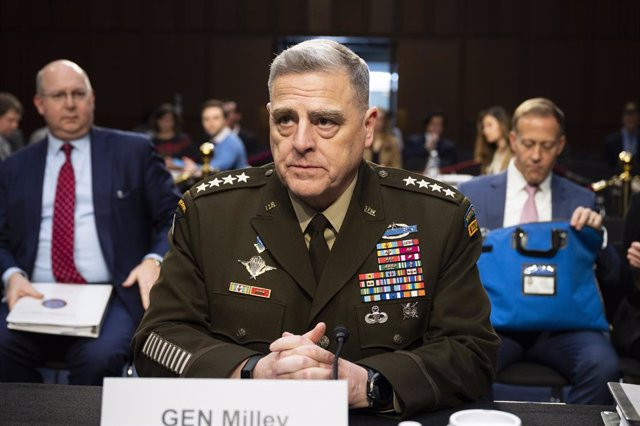 Archivo - 04 March 2020, US, Washington: General Mark Milley, Chairman of the Joint Chiefs Of Staff, testifies during the Senate Armed Services Committee hearing on the Department of Defense budget. Photo: Michael Brochstein/ZUMA Wire/dpa