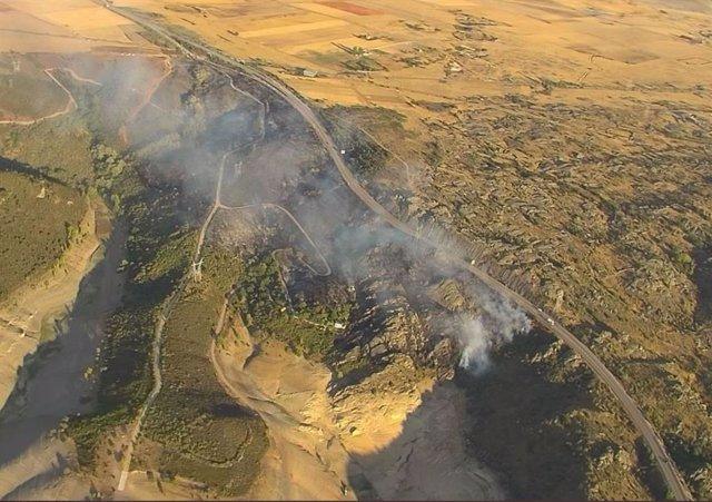 Incendio en Muelas del Pan (Zamora).