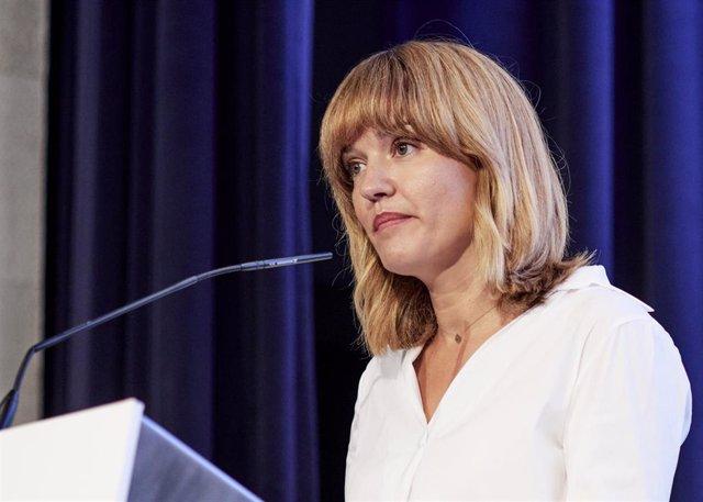 La ministra de Educación y Formación Profesional, Pilar Alegría, en el 35º Encuentro de la Economía Digital y las Telecomunicaciones este jueves 2 de septiembre de 2021 en el Palacio de la Magdalena de Santander