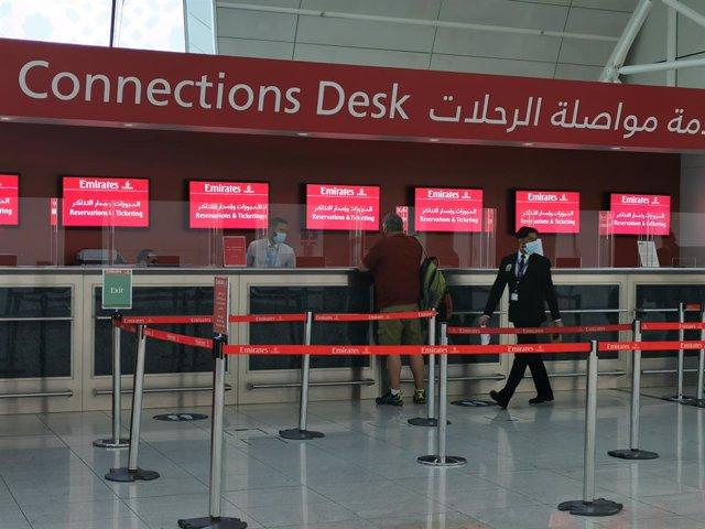 Aeropuerto de Dubái, en Emiratos Árabes Unidos