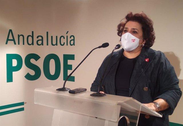 Archivo - La parlamentaria andaluza del PSOE Teresa Jiménez en una foto de archivo.
