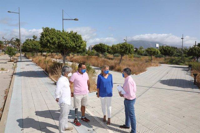 Archivo - Visita terreno del nuevo pabellón deportivo de Marbella en San Pedro
