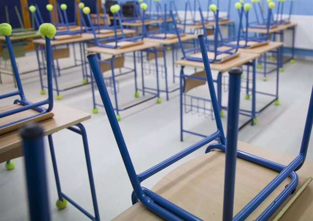 Archivo - Aula de un colegio